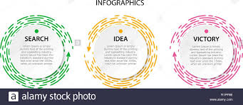Dotted Line Template Collection Circle Infographic For The Presentation Bright Pink