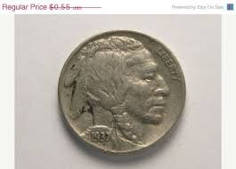 1937 Wheat Penny Value Chart Buffalo Nickel 1936 Or 1937 F Or Vf Coin By