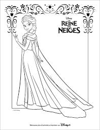 Coloriages La Reine Des Neiges Elsa Coloriage Dh Chateau Princesse