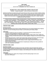 Resume Specialist Cool Marketing Specialist Resume JmckellCom