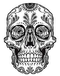 Skull Tattoo Line Art Jos Gandos
