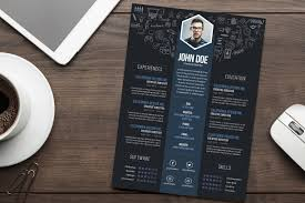 Creative Resume Free Creative Resume CV DesignTemplate PSD File Good Resume 18