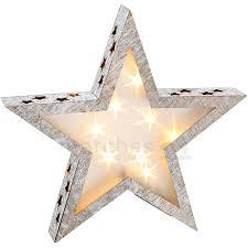 Weihnachtlicher Stern Holz Weihnachtsdeko Mit 3d Effekt Led Beleuchtung 38x6 Cm Matches21