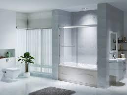 56 to 60 semi frameless sliding bathtub doors