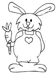 Small Picture A Bunny in a Jumpsuit Holding a Carrot Coloring Page Download