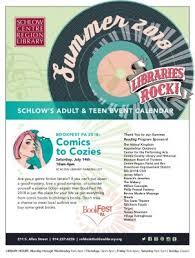 Event Calendar Unique Adult Teen Summer 44 Event Calendar Schlow Centre Region Library
