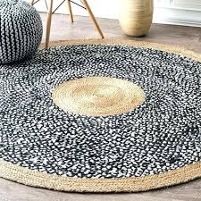 round natural rug causal fiber jute and cotton token black carpet company rubber pad 8x10