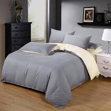 gray and beige color home bedding bed linen bedding set duvet set bed set covers bed linen men women brief style bedcothes grey and blue bedding fine