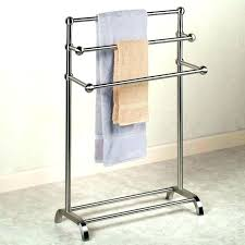 free standing towel rack brushed nickel. Floor Standing Towel Rack Free Bath And Brushed Nickel