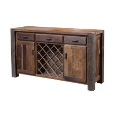 buffet with wine rack. Simple With Barnwood Timber Ridge Buffet Wine Rack In With O