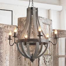 wine barrel lighting. Wooden Wine Barrel Stave Chandelier Inspired By Slats From The Vineyard, This Bent- Lighting N