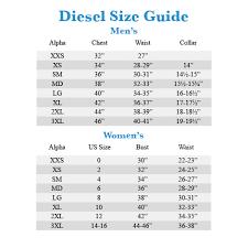 Diesel Jeans Men Size Chart Diesel Mens Jeans Size Chart Diesel Size Chart