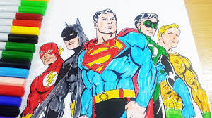 Looking for the best superman comic wallpapers? Justice League Coloring Pages Superman Batman Flash Green Latern Aquaman Coloring Book 2018 Youtube