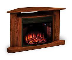 amish classic corner led fireplace tv stand