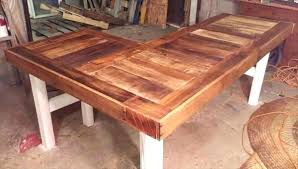 l shaped wood desk. Desk Building Plans Build A Wooden Recycled Pallet L Shaped Furniture Chic Wood W