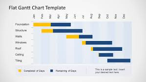 Gantt Chart Ppt Download Flat Gantt Chart Template For Powerpoint