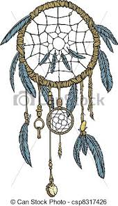 Native Dream Catchers Drawings A highly detailed native american dream catcher clip art vector 78