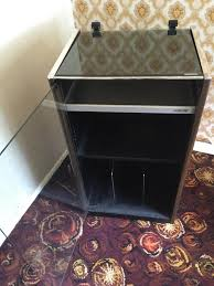 sony hi fi cabinet glass door with lid vinyl record compartment