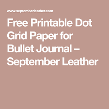 Free Printable Dot Grid Paper Free Printable Dot Grid Paper For Bullet Journal Bullet Journal