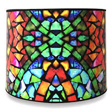 Royal Designs Handmade Lamp Shade Made In Usa Mosaic Stained Glass Design 10 X 10 X 8