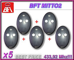 5 X Bft Mitto 2 2 Channel Remote 433 92mhz Rolling Code
