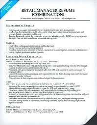 Professional Retail Resume Examples Retail Manager Resume With
