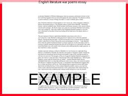 essay on english literature english literature war poems essay research paper writing service