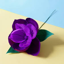Flower Made In Paper Purple Pop Paper Flower