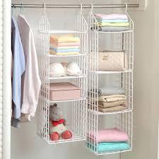 clothing shelf folding wardrobe clothes storage rack plastic suspended clothing shelves hanging ties storage holder for