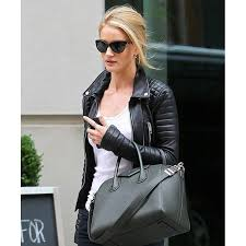 rosie huntington whiteley black leather quilted jacket