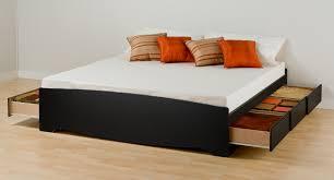garage impressive king size platform bed 33 modern black painted pine wood with storage drawers king