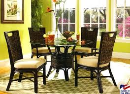 rattan dining room table and chairs with indoor wicker dining room chairs rattan dining room table