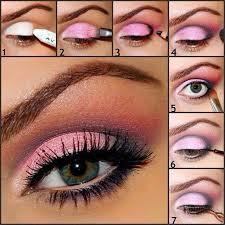 lovely pink eye makeup tutorials