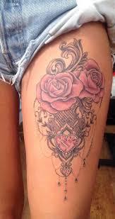 Women S Thigh Tattoos Designs
