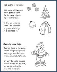 these spanish poems for kids teach winter voary