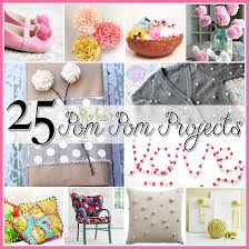 25 pom pom diy projects home decor clothes and great fun for the kids