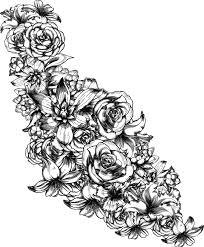 Bouquet De Fleur Gratuit Tr S Difficile Colorier Artherapie Ca