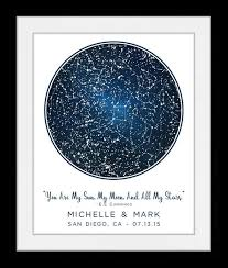 Constellation Chart S 1 Location Star Map Constellation Chart Personalized Gift For Couple Romantic New Home Housewarming Engagement Unique Anniversary Night