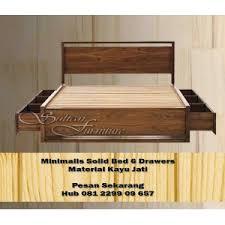 Minimalist Teak Bed MTB04 teak furniture Indonesia minimalist teak furniture