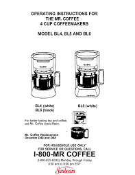 Dual water window allows visibility as you fill—no more overflows. Mr Coffee Bl4 Coffeemaker User Manual Manualzz