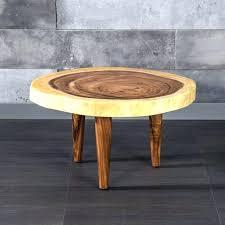 round live edge table live edge round coffee table wood live edge coffee table on three
