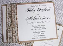Burlap And Lace Wedding Invitations Burlap And Lace Wedding Invitations Wedding Invitation Ideas