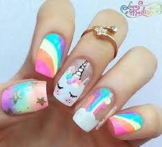 rainbow cute nail design