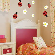 ladybug wall decals set of 4 wall