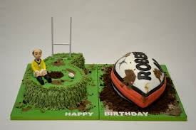 Number 60 Rugby Themed Cake Adult Birthday Cakes Celebration