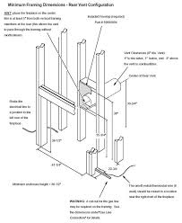 864 trv gas fireplace avalon firestyles installation drawing