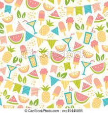 Summer Pattern Impressive Summer Party Pattern Seamless Pattern For Summer With Ice Creams
