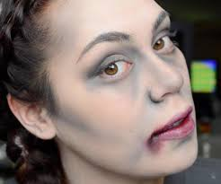 with this half zombie makeup you ll be the envied one at this years zombie makeup