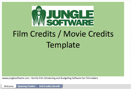 Film Template For Photos Guide To Film Credits Order Hierarchy With Template