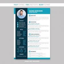Modern Creative Resume Template Modern Creative Cv Resume Template Vector Premium Download